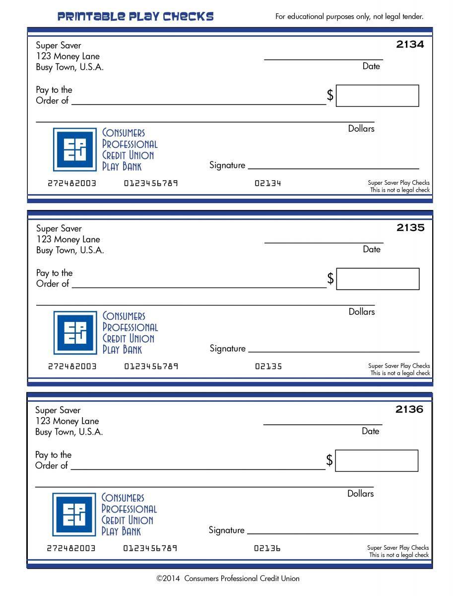 printable check