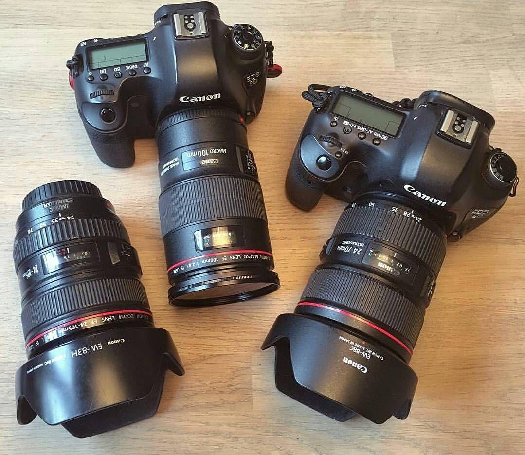 Canon 5d Mark Iii With Canon 24 70mm F2 8 L Ii Canon 100mm F2 8 Is L Macro And Canon 24 105mm F4 Is L Canongearnerd Dm Canon 5d Mark Iii Instagram Canon 5d