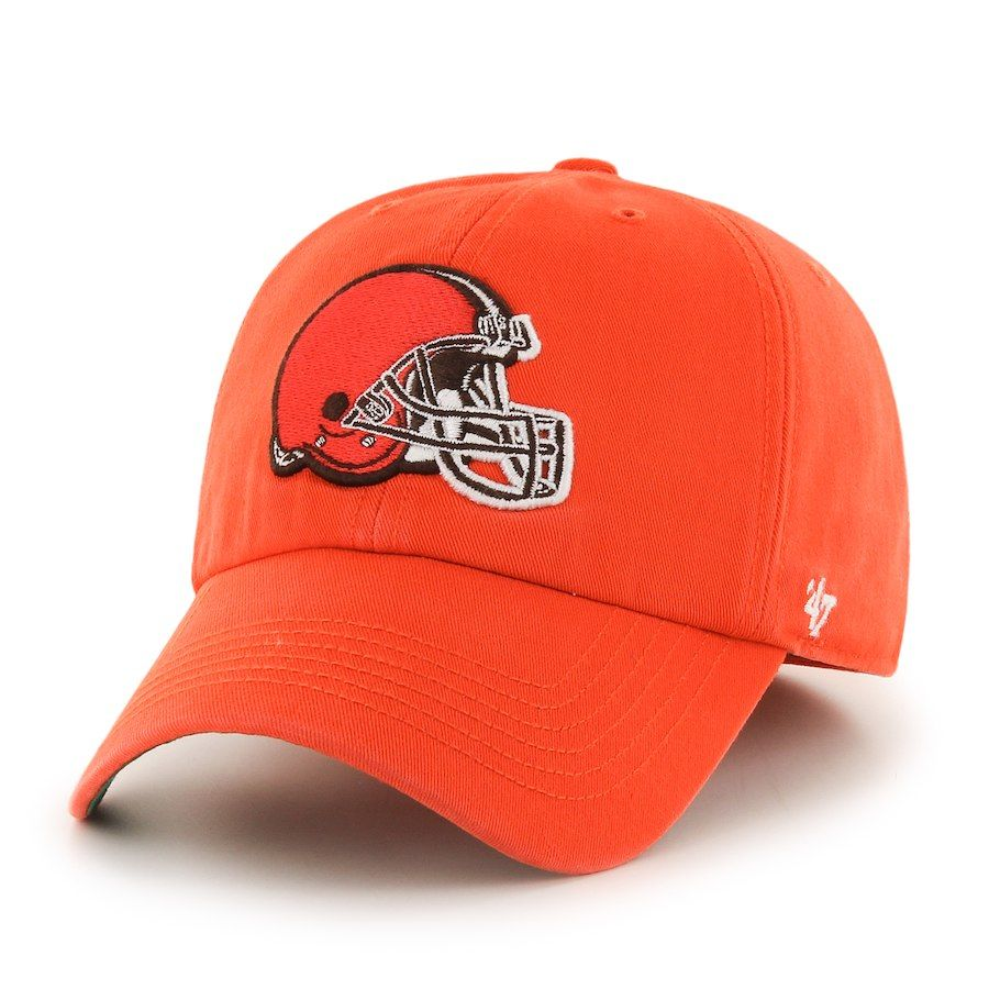 Men s Cleveland Browns  47 Brand Orange Franchise Fitted Hat 9cdd2a428