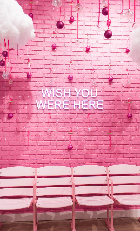 Photo Wall Aesthetic Pink