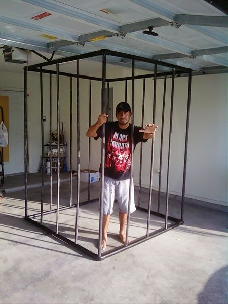 Pvc Cage For Halloween Displays Could Make Smaller