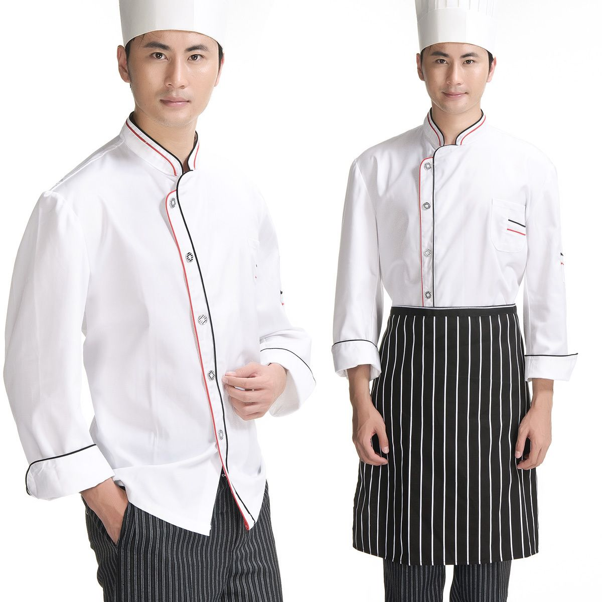 041491302 Bartender Uniforms | Hotel Overalls Waiter Uniform Bartenders Work Shirt  Tooling