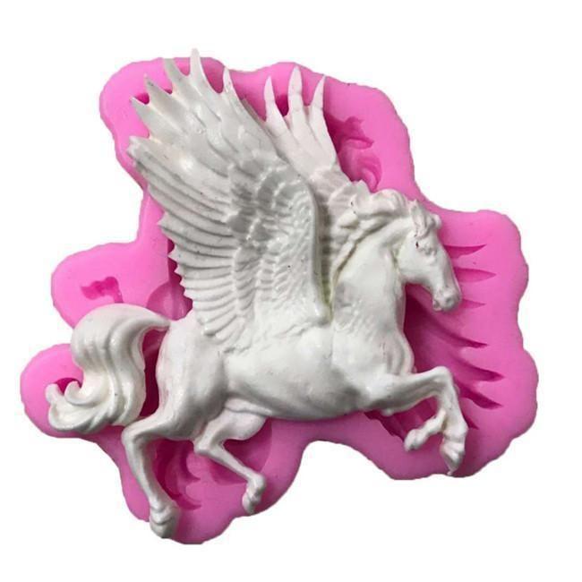Flying Horse Dragon Silicone Cake Fondant Mold Chocolate Sugarcraft Baking Tool