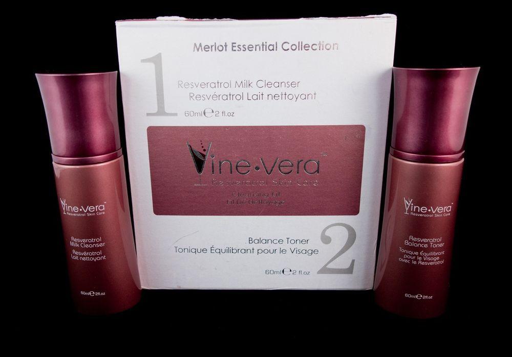 Vine Vera Resveratrol Merlot Collection Cleansing 2 Step Kit Toner Cleanser Vinevera Milk Cleanser Ebay Ebay Store