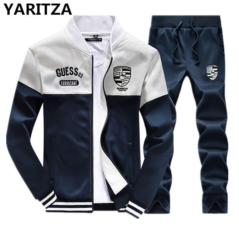 YARITZA Men's Sweatshirt Set Tracksuits Set Sports Hoodies Sets ...