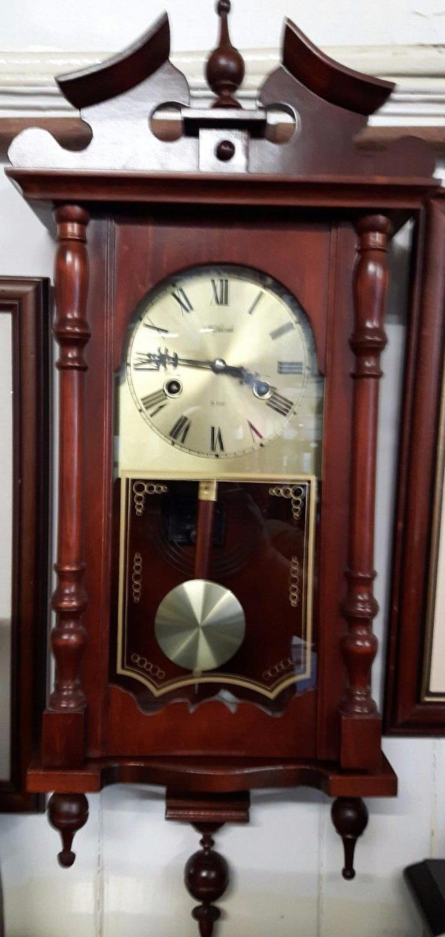 Vintage wall clock in mahogany by highlands 31 day for sale in vintage wall clock in mahogany by highlands 31 day for sale in dewsbury west yorkshire amipublicfo Image collections
