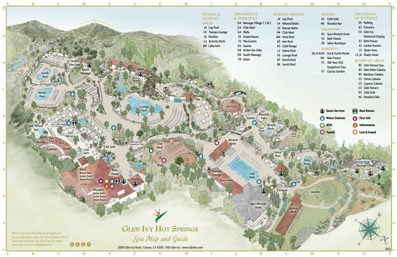 Map Glen Ivy Hot Springs Glen Ivy Hot Springs Glen Ivy Hot Springs