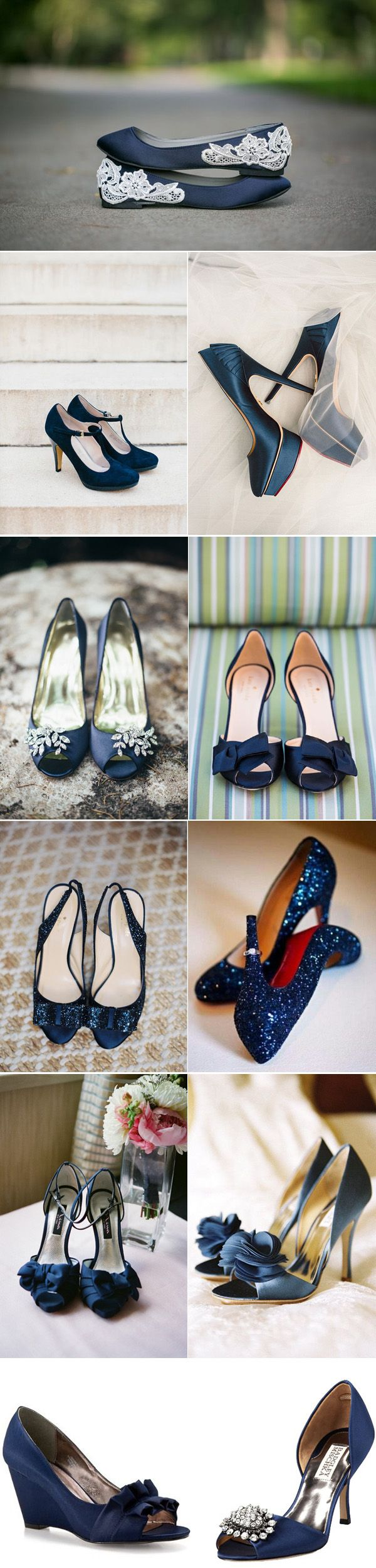 45 Chic Blue Wedding Shoes For Bridal Deerpearlflowers: Navy Dress For Wedding Shoes At Websimilar.org