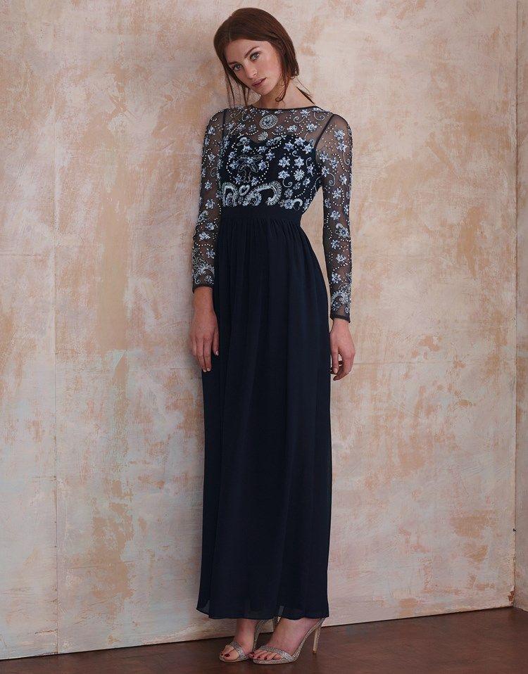Frock And Frill Tall Embellished Top Maxi Dress - Navy Frock and Frill Tall laGpQ2zN8