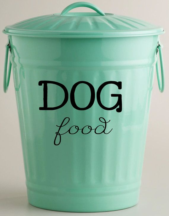 Vinyl Decal Dog Food Or Cat Food Vinyl Decal Storage Container