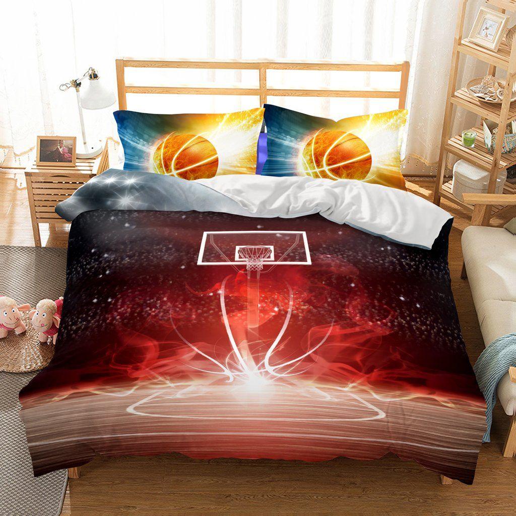 Wonderful 3D Basketball Fire Printed Bedding Sets/duvet Cover Set