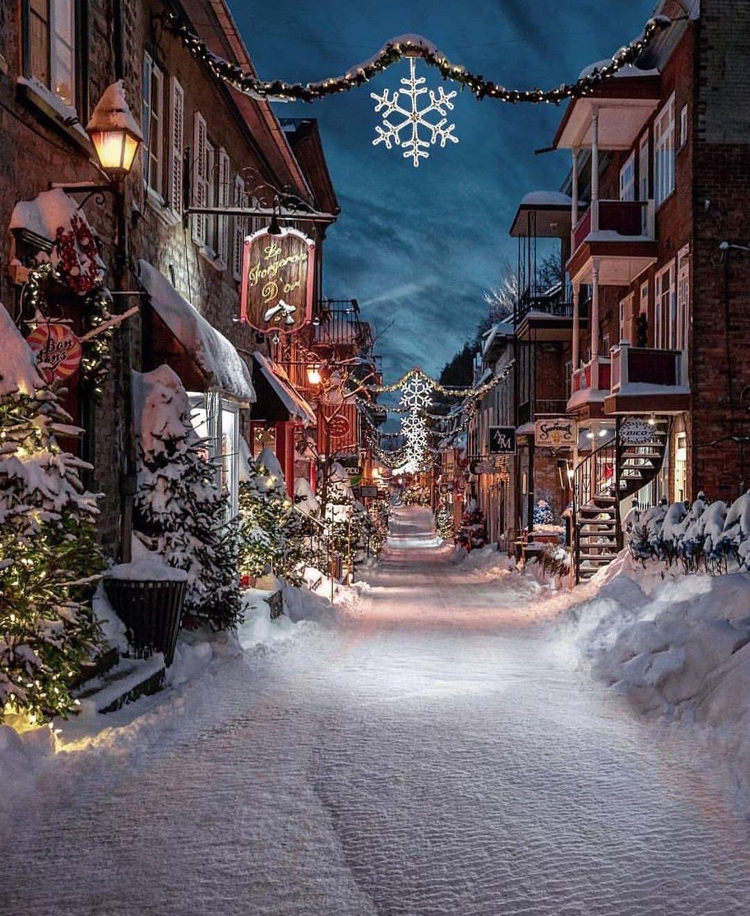 Quebec City Canada Snow Christmas City Instagram Manucoveney Christmas Town Winter Scenery Winter Photos