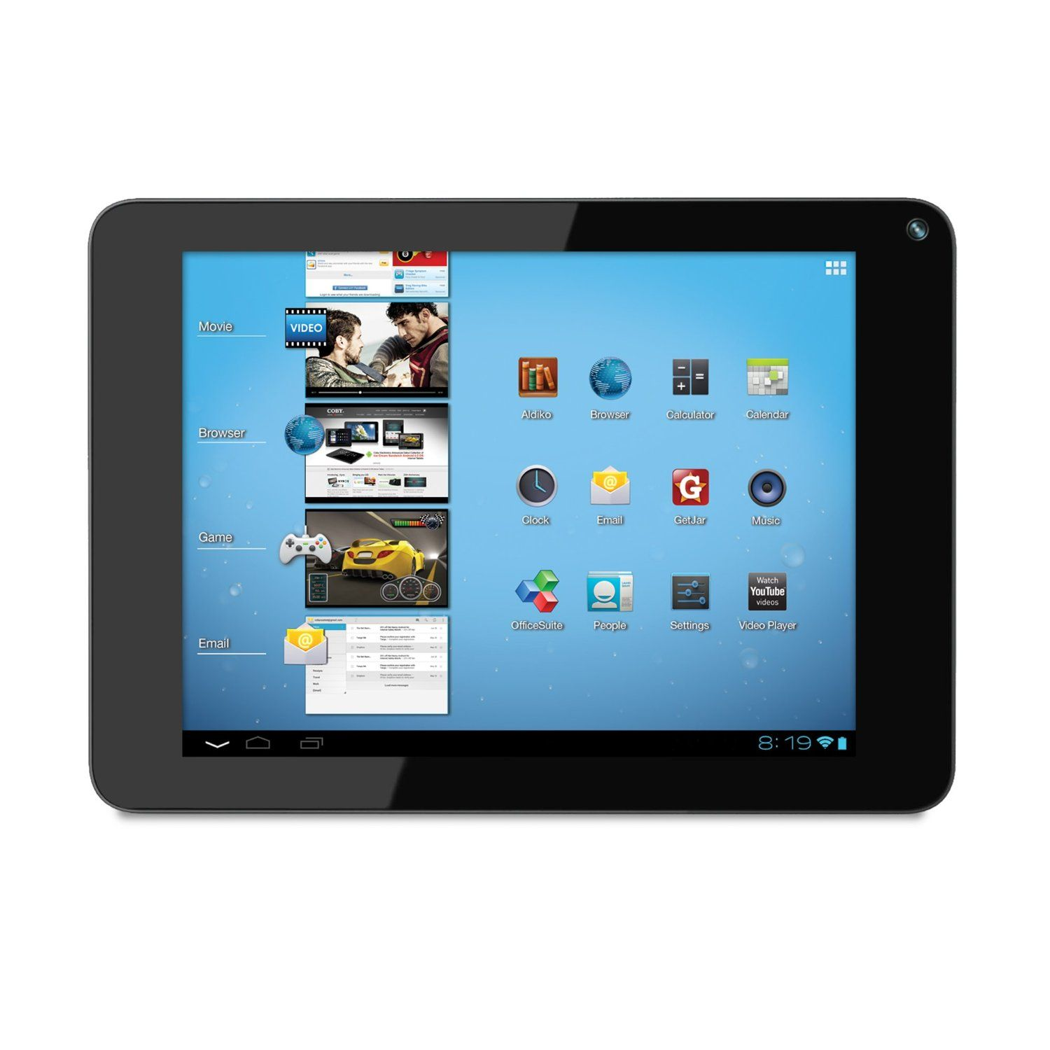 Coby Kyros Mid1048 8 Gb Tablet 10 1 Telechips Cortex A5 1 Ghz Touch Screen Android Tablets