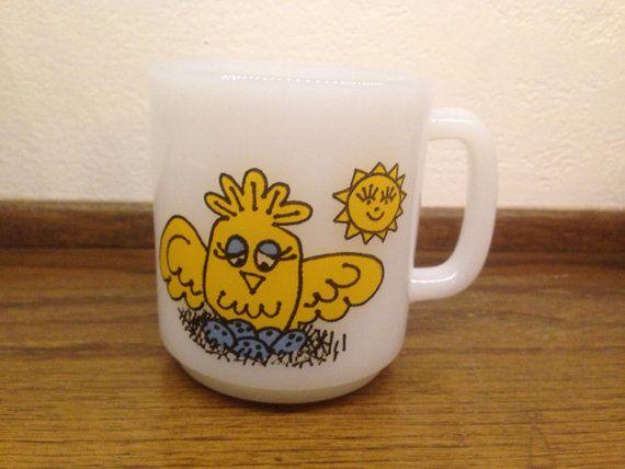Vintage Glasbake Good Morning Baby Chick by SylviasRetroKitsch, $25.00