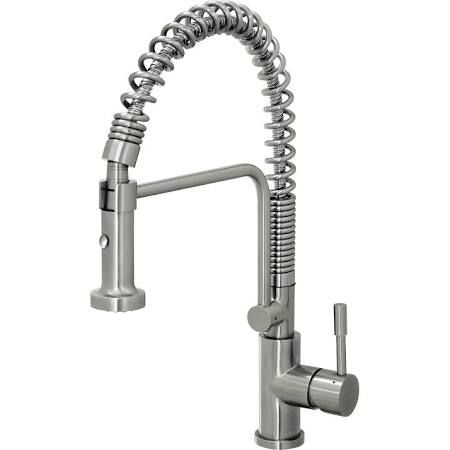 Geyser Stainless Steel Commercial-Style Coiled Spring Kitchen Pull-Down Faucet TF51-B