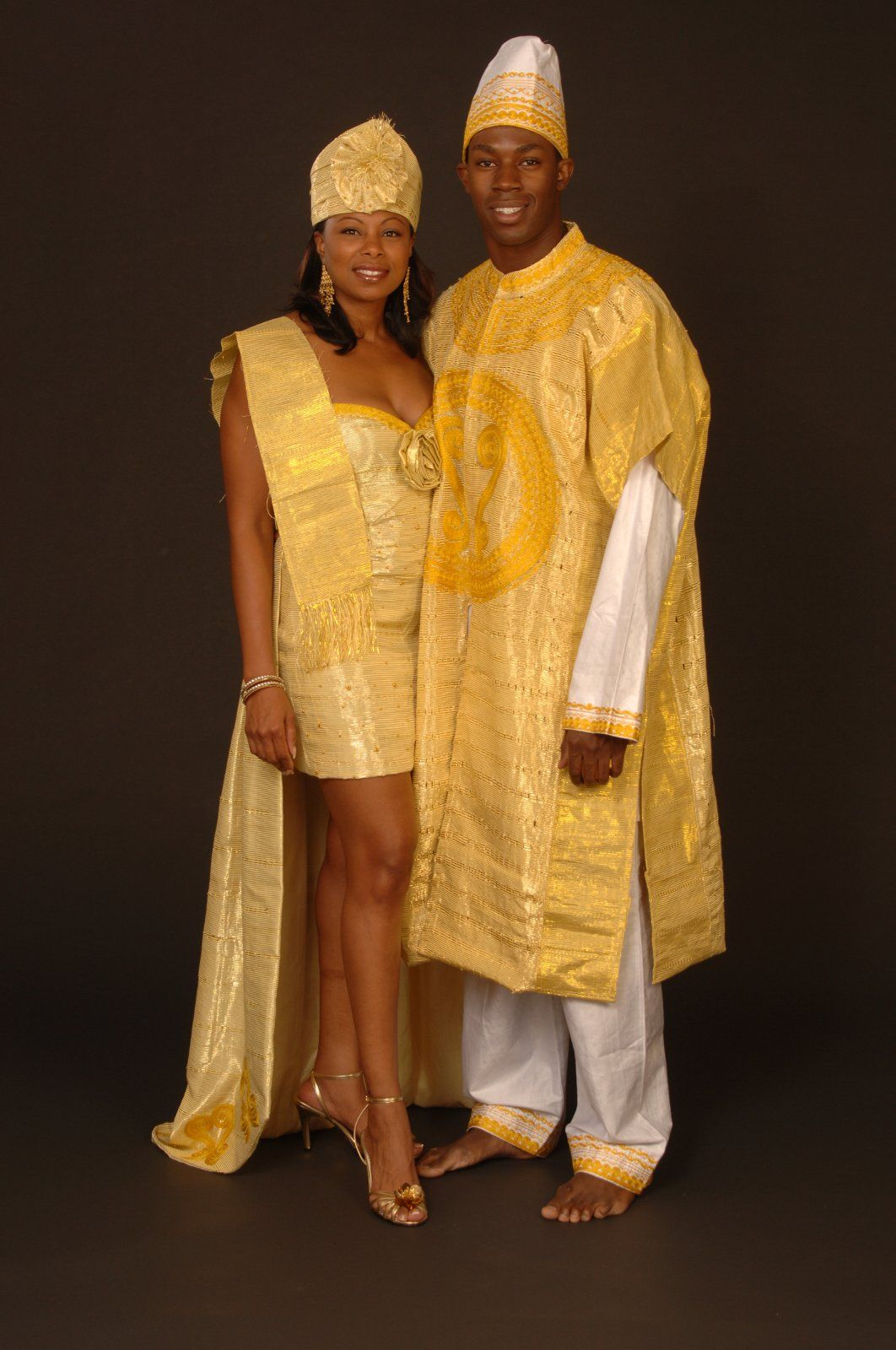 Traditional African Attire Made In Africa With Guinea Brocade Pinned Wedding DressAfrican