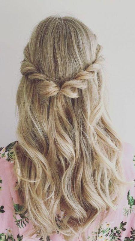 Half Updo Und Blonde Haarfarbe Lieblings Halboffene Frisuren Damen Haare Haarfarbe Blond Haarfarben Haar Styling