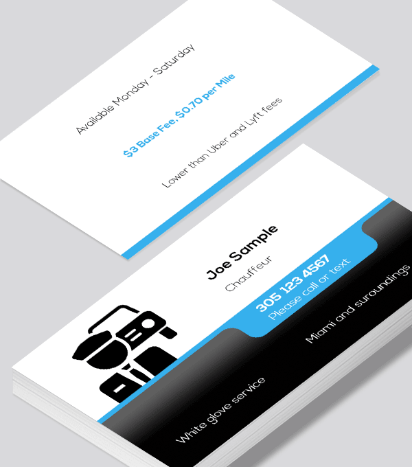 Chauffeur Business Cards Modern Design Modern Business Cards Design Business Card Modern Free Business Card Templates