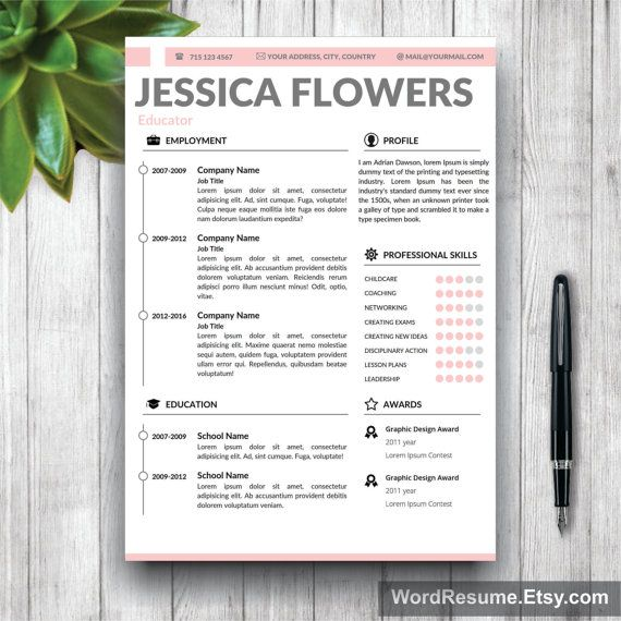 Word Resume Template 2007 Entrancing Cv Template Resume Template Cover Letter Andwordresume  Resume .