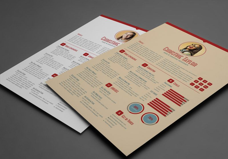 Indesign Resume Templates Free Business Resume Template  Work  Resume  Pinterest