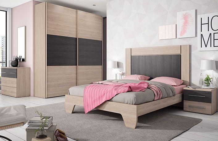 Dormitorio cama 150 x 190 sin armario   Sin armario, Dormitorio ...