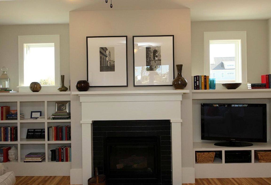 Fireplace bookcase on pinterest bookshelves around fireplace shelv - Built In Cabinetry Around Windows And Fireplace Google Search