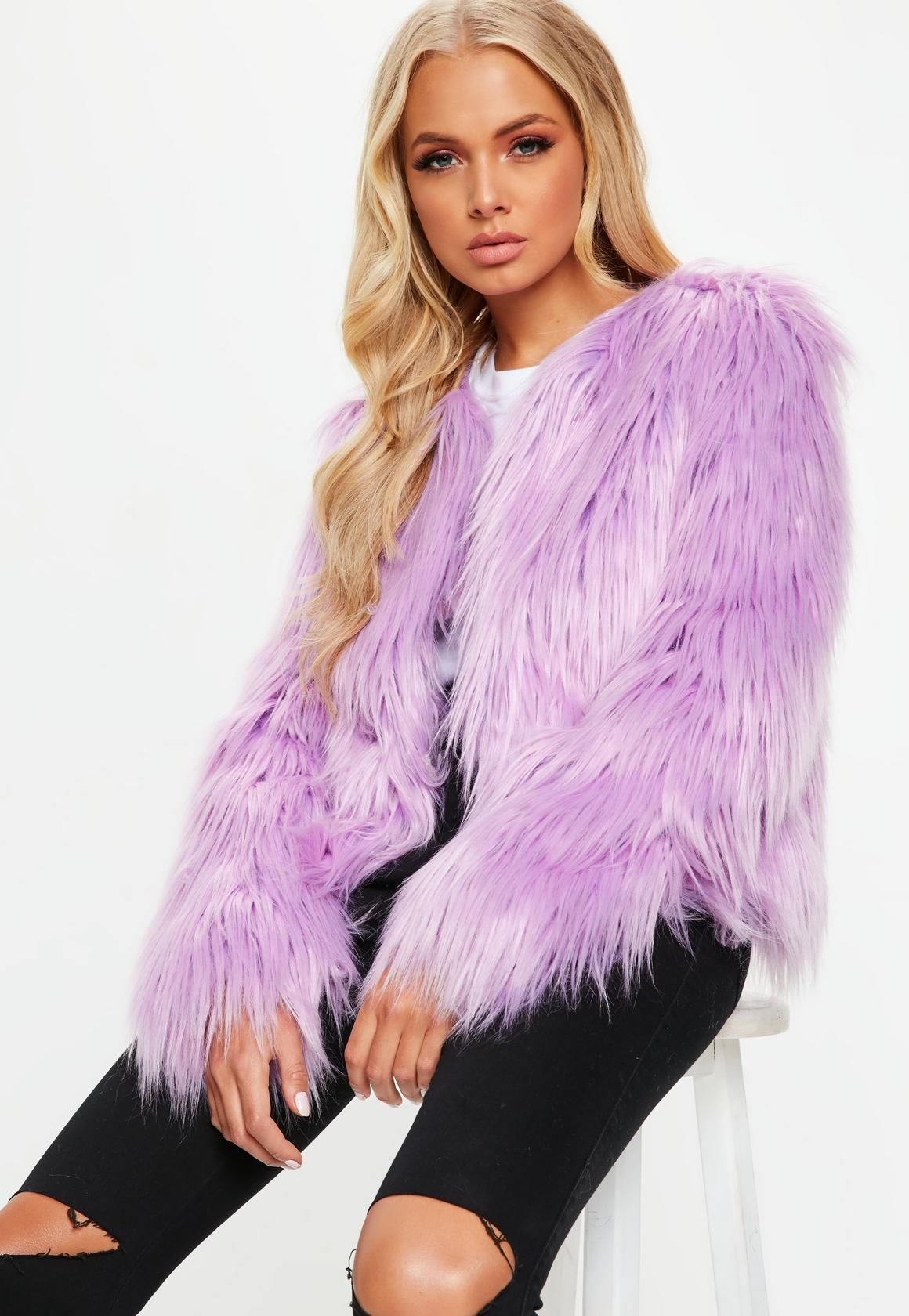 Missguided Lilac Shaggy Faux Fur Coat Shaggy Faux Fur Coat Faux Fur Coats Outfit Fluffy Faux Fur Coat [ 1680 x 1160 Pixel ]