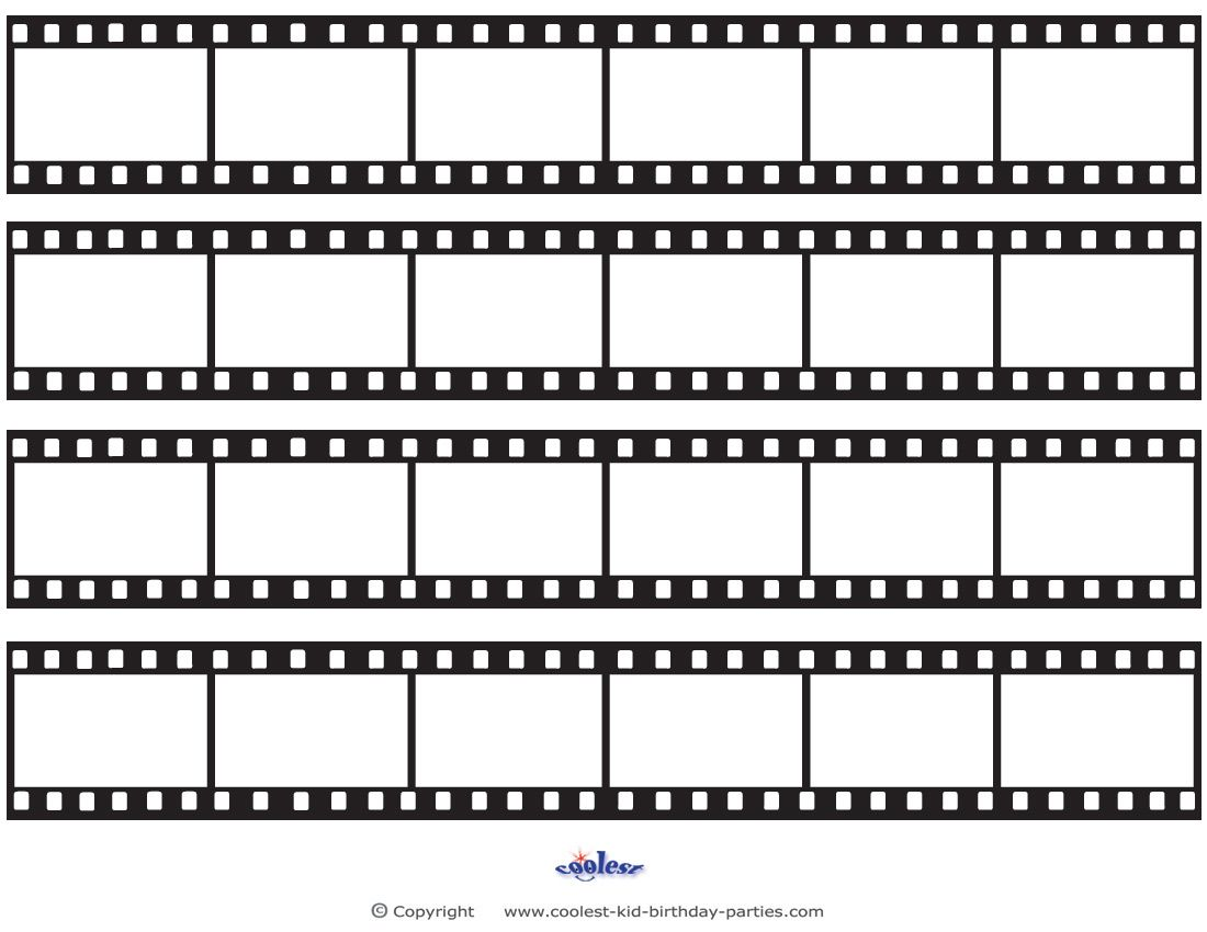printable film strip template printable film strip decoration coolest free printables