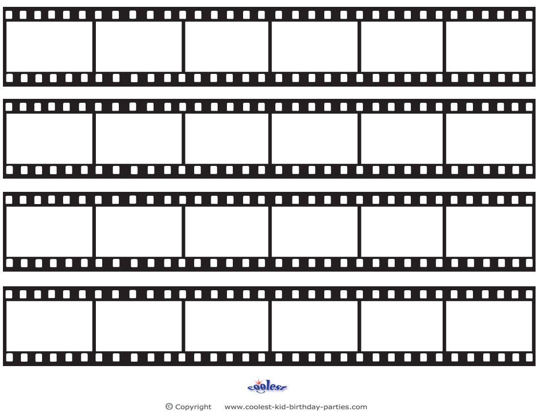 Printable Film Strip Decoration