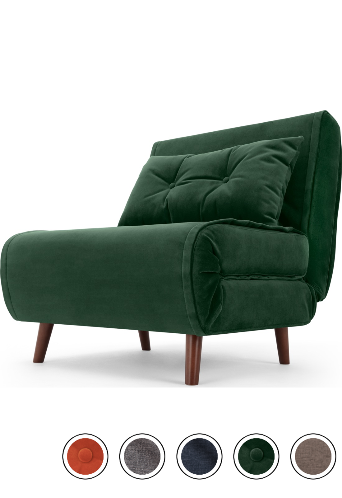 MADE pine green velvet Sofa bed Single sofa, Single sofa