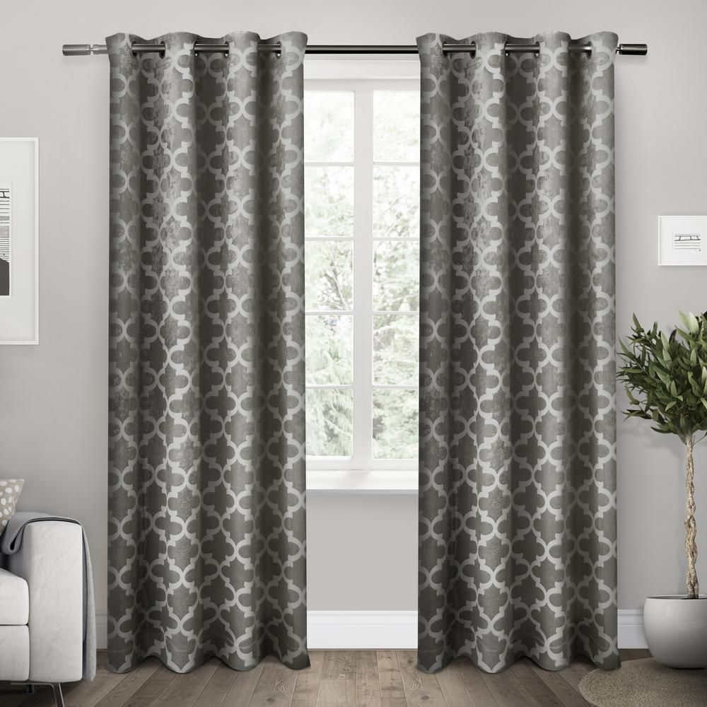 Cartago 54 In W X 108 In L Woven Blackout Grommet Top Curtain