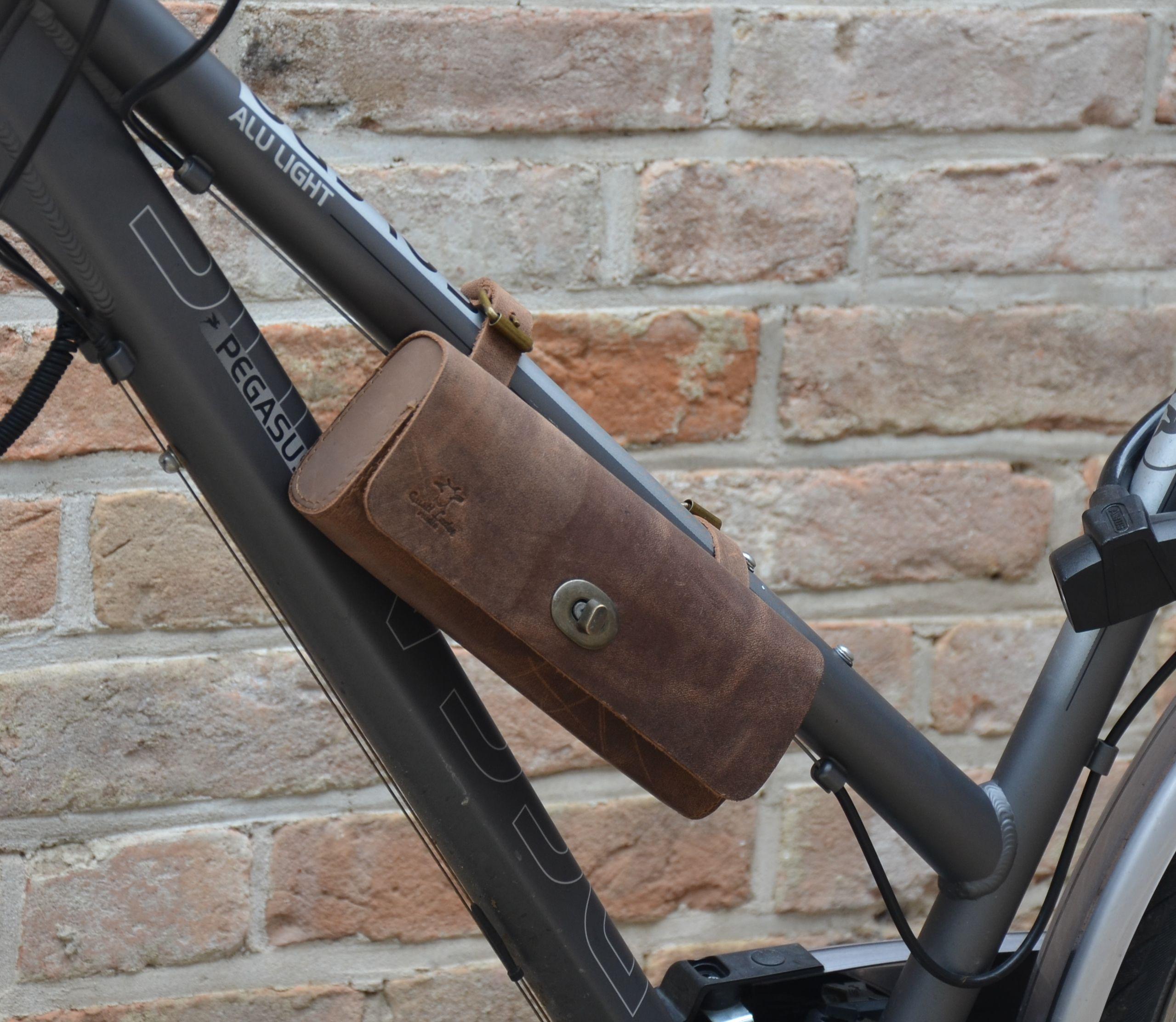 Fahrradtasche Lenkertasche Leder Klein Fahrrad Satteltasche