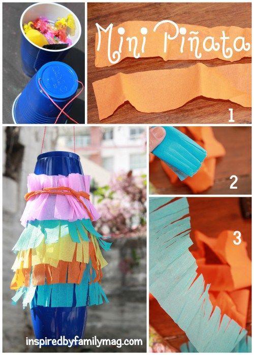 Diy mini pi ata minis hispanic heritage and craft for Decoration pinata
