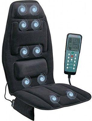 Heated Back Massage Seat Cushion Car Seat Chair Massager Lumbar Neck Pad  Heater #MASSAGECHAIR #