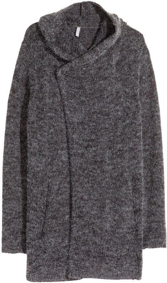 d791e7e2e5e H M Hooded Cardigan - Dark gray - Click link for product details ...