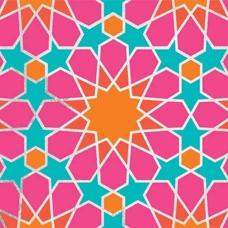 Moroccan Geometry Stencil Islamic Art Pattern Geometric Art Geometric Wall Stencil