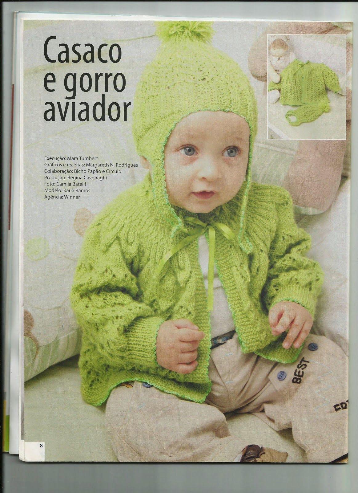 d8529d5d11986 Receita de Tricô  Casaquinho de bebê - receita