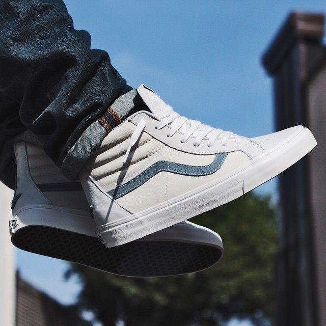 Vans Sk8 Hi LeatherNubuck Zip CA | Zapatos, Zapatos vans y