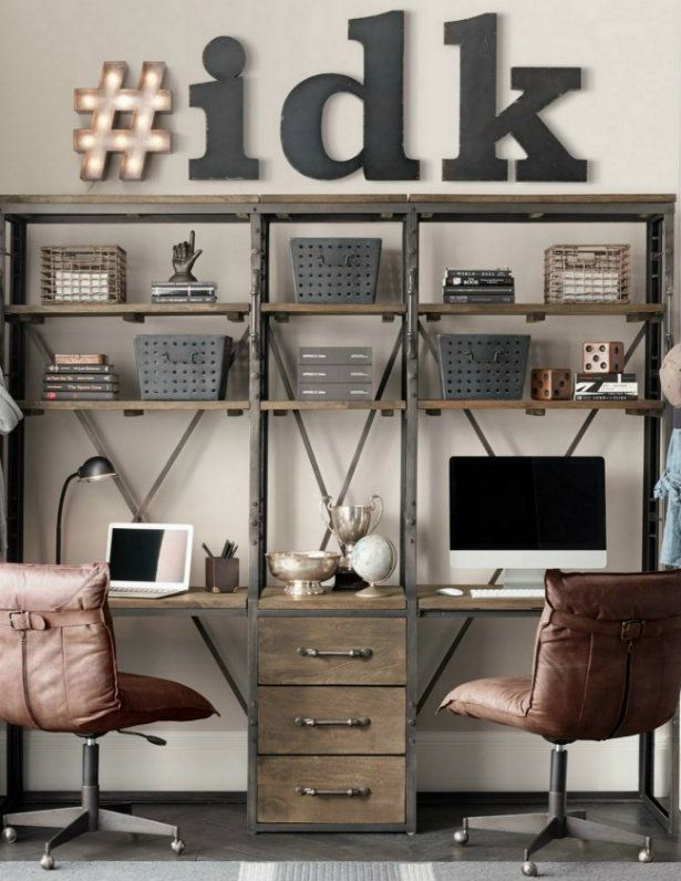 Offices with an industrial interior design touch for Office design hashtags