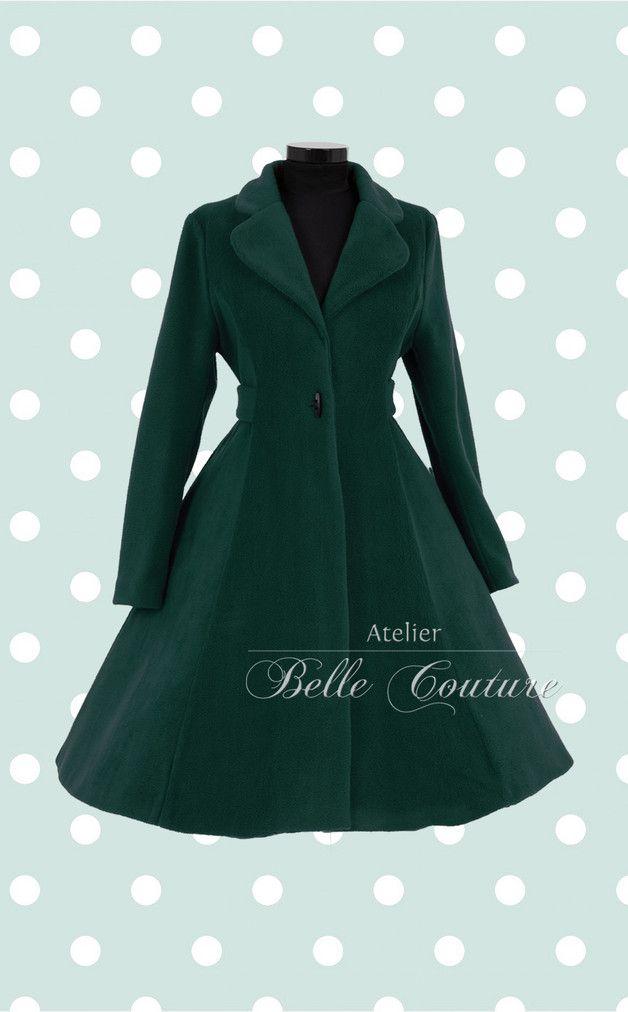 50er jahre mantel mit kaputze damen schwarz