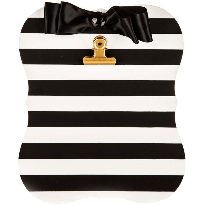 Black & White Stripe Clipboard