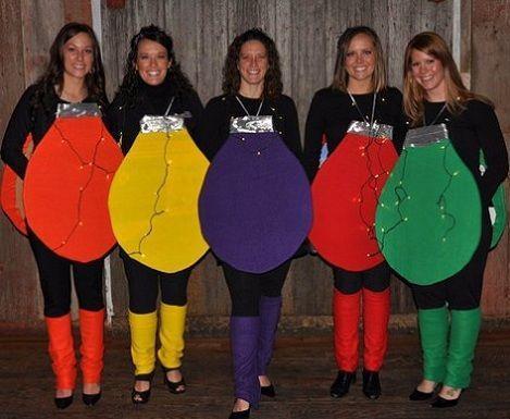 Disfraces originales bombillas colores carnival ideas - Disfraces caseros adulto ...