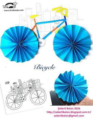 şekerli Balon Bisiklet Boyama Okul öncesi Pinterest