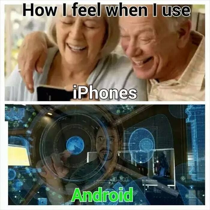 Iphone Vs Android Android Vs Iphone Iphone Humor Android Meme