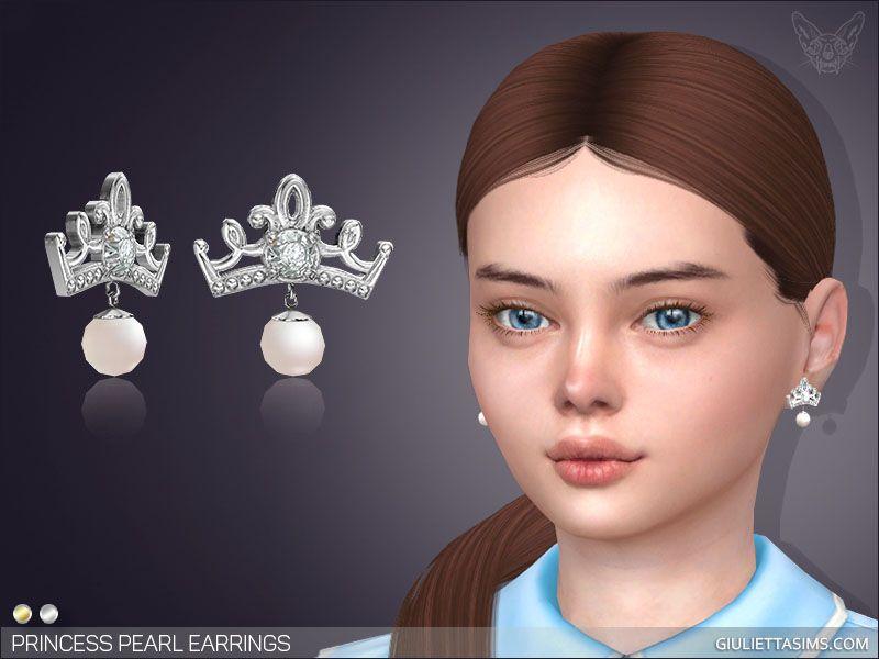 Princess Pearl Earrings For Kids