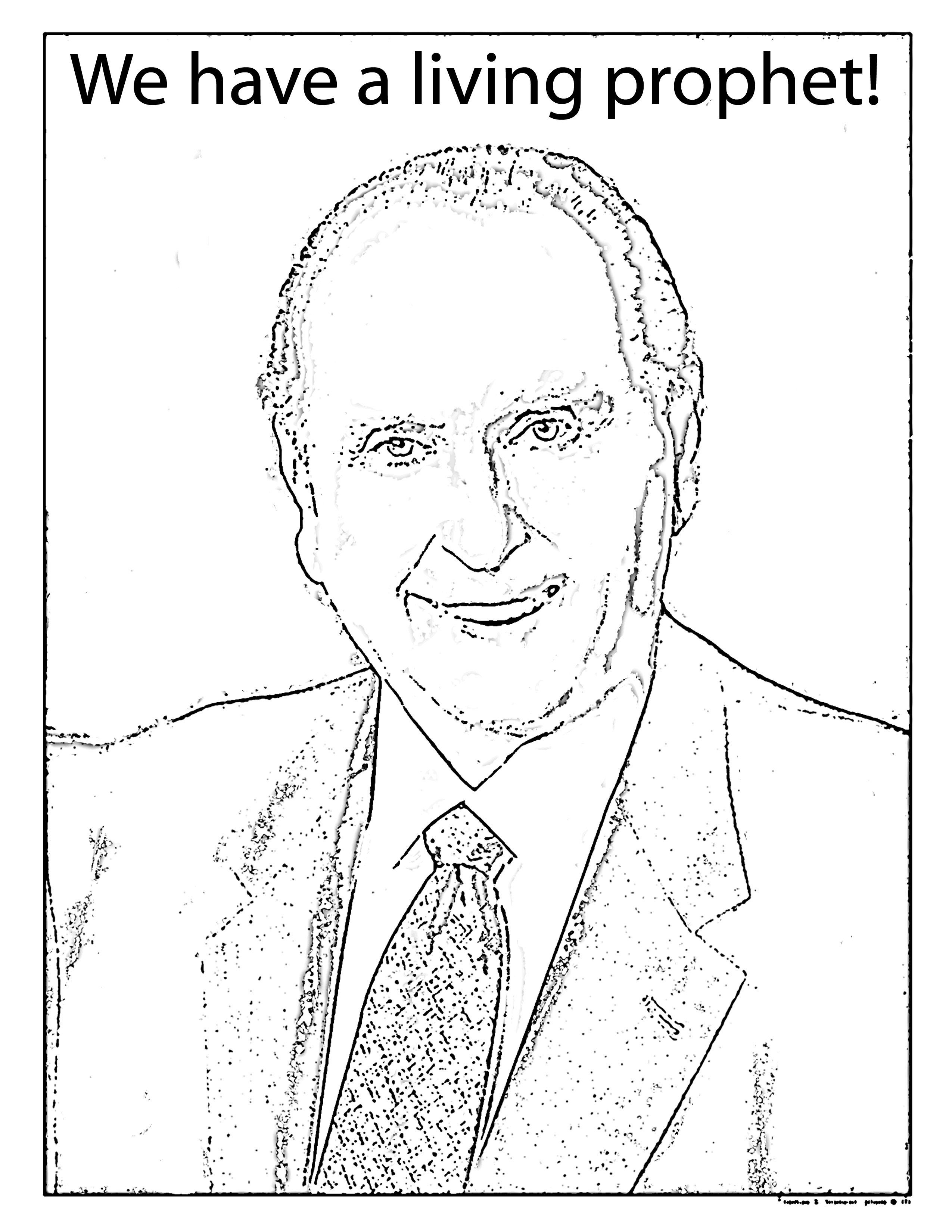 Mormon Share } President Monson Coloring Sheet | Templo
