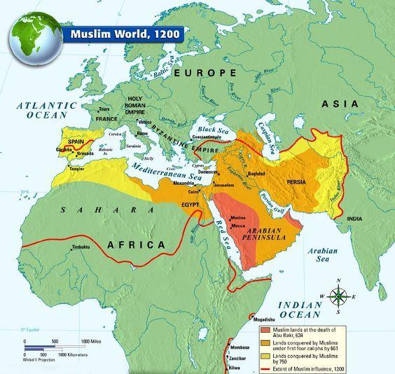 Muslim World 1200 Historical Maps