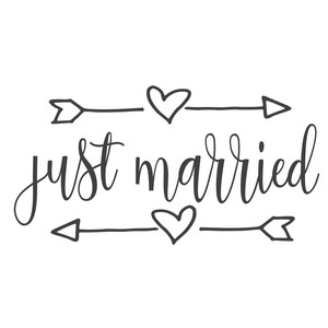 Just Married Wedding Weddingsigns Groom Bridal Cutfiles Svgfile Clipart Silhouettecameo Just Married Sign Just Married Wedding Scrapbook