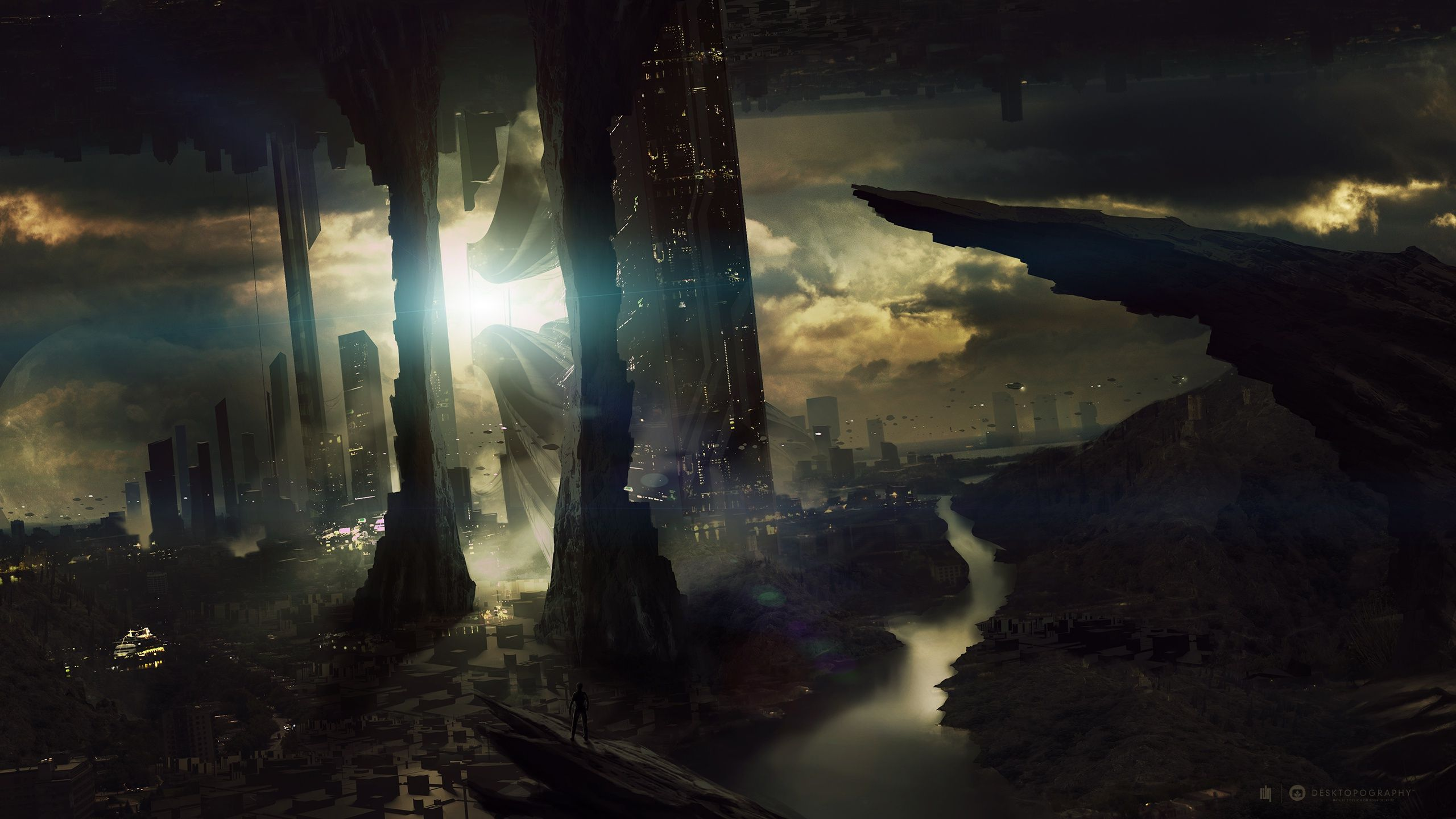 Sci Fi Wallpapers 5 Awesome Wallpapers Wallpaper Landscape Wallpaper Sci Fi Wallpaper Futuristic City