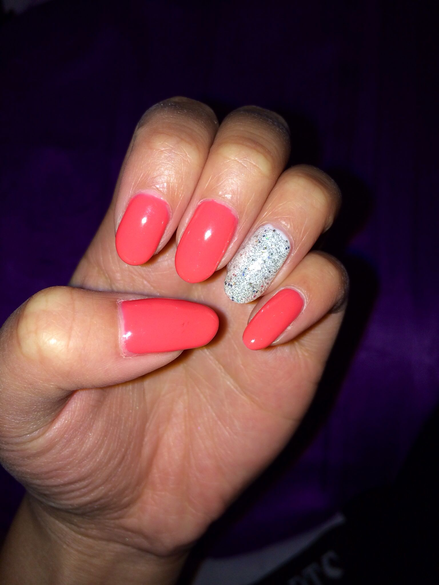 shellac nail ideas! bright colours with some sparkle is perfect